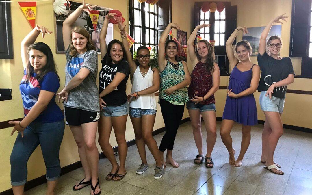 Sevillanas dance class